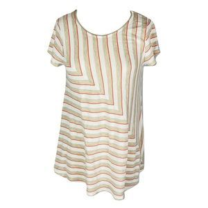 Anthropologie Puella Women M S/S Stripe Rayon Top